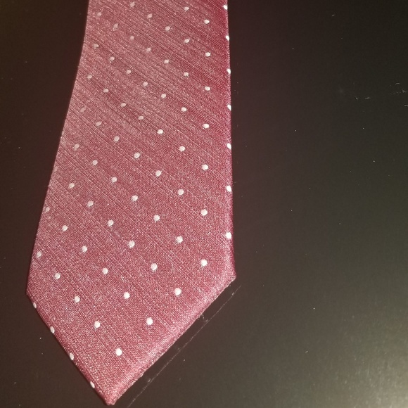 99cddfc08ebf Accessories | Mens Tie Burgundy With White Dots | Poshmark